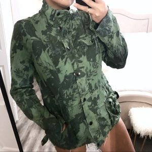 Ashley by 26 Intl Military Green Camo Jacket Large